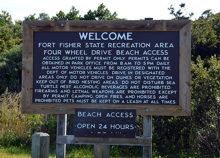 Rules at Fort Fisher State Recreation Area
