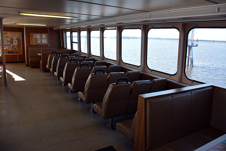 Fort Fisher ferry seating