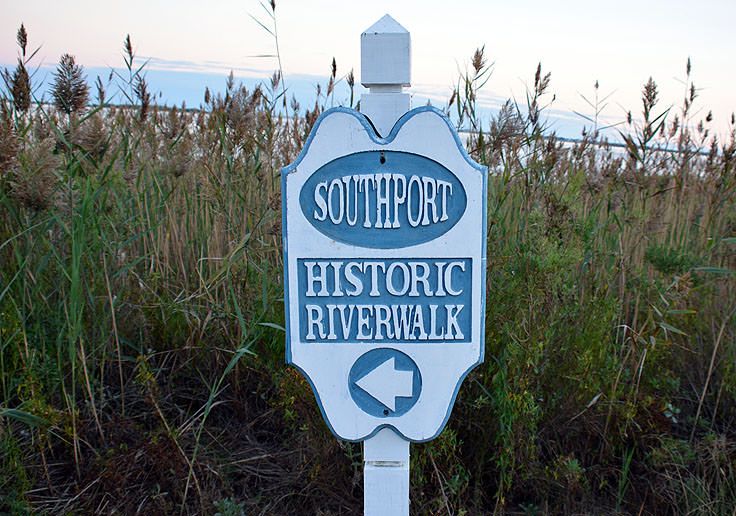 The Historic Riverwalk in Southport, NC